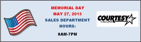 MEMORIAL DAY SALES HOURS